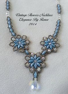 Beaded Jewelry Designs, Bead Jewellery, Seed Bead Jewelry, Diy Jewelry, Seed Bead Necklace, Flower Necklace, Seed Bead Art, Jewelry Making Tutorials, Beaded Flowers