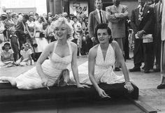 Grauman's Chinese Movie Theatre. Marilyn Monroe. Jane Russell. June 26, 1953.
