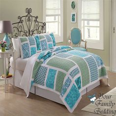 Ocean Blue Beach Sea Floral Twin Full Queen King Size Quilt Cotton Bedding Set | eBay