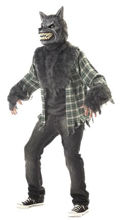 This guy is out and about and looking for victims when the moon turns full, the Men's Full Moon Madness Werewolf Costume. The werewolf outfit includes a shirt that is shredded at the sleeves and on th