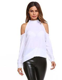 7cdda62362ccb Soteer Womens Casual Cold Shoulder T Shirt Flowy Swing Tops  tops  tees   fashion