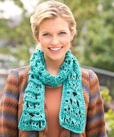 Sampler Broomstick Scarf Crochet Pattern  #crochet  #redheartyarns