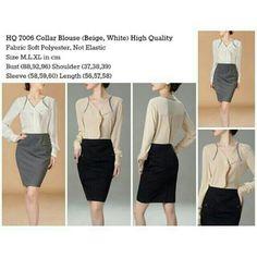 HQ7006 Collar Blouse  Sise XL Price 60K