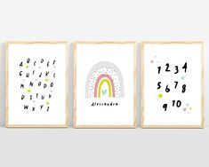 Rainbow nursery art prints and nursery ideas from Sunny and Pretty. Add your little one's name to this set of 3 personalized rainbow prints and create a sweet baby decor. Nursery art and nursery prints to complete your nursery decor project. Our nursery wall art is made with love and is designed to reflect your nursery wall decor style. 🖤 Get excited about decorating for your little one! #sunnyandpretty Nursery Themes, Nursery Prints, Nursery Wall Art, Girl Nursery, Nursery Decor, Nursery Ideas, Playroom Ideas, Simple Girls Bedroom, Name Wall Decor