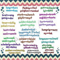 adjektive Parenting Goals, Parenting Fail, Turkish Lessons, Learn Turkish Language, German Language Learning, Learn German, Natural Parenting, About Me Blog, Education