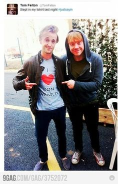 My two favorite Potterheads, if you don't count them Weasley twins.