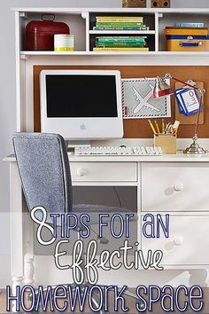 8 Tips for an Effective Homework Station