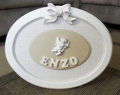 Linha Baby - Medalhão porta Maternidade(0078BB) - Lívia esperando Enzo! - Tudo em Caixas