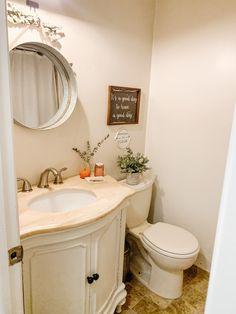 how to refresh a bathroom without a renovation Building A Fence, Good Bones, My House, Pastel, Bathroom, Blog, Diy, Home, Washroom