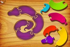 My first puzzles: Snakes ($0.00) Kids from 2 to 6 will have fun solving their first puzzles. With 20 different puzzles, nice sound effects, beautiful graphics and 3 levels of difficulty, this game will entertain your children while improving their motor skills.