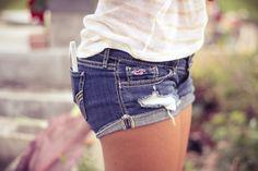 Hollister jean short shorts