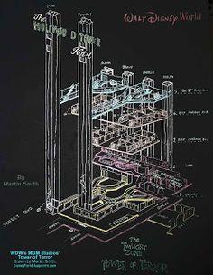 Disney Park Blueprints: Tower of Terror - Disney Hollywood Studios, FL USA