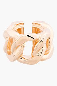 Rose Gold Curb chain ring