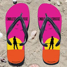 Endless Summer Girls Flip Flops - Kick back after a lacrosse game with these great flip flops! Fun and functional flip flops for all lacross...