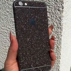 Black Glitter iPhone Skin ✼ Available black glitter skin for iPhone 6 /6s We also have available for iPhone 6/6s. This is not a case, this is a sticker. Check out our profile to buy it. Visit our website to see more colors and styles: www.elementaccess... and follow us on Instagram: Erika Walter.accessories Accessories Phone Cases Cell Phones & Accessories - Cell Phone, Cases & Covers - http://amzn.to/2jXZVL6