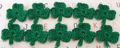 Crochet Shamrock Appliques by FineThreads on Etsy, $3.50