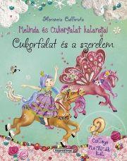 """Florencia Cafferata - Melinda és Cukorfalat kalandjai - Cukorfalat és a szerelem - """"Ez a különleges mesekönyv-sorozat egyedi illusztrációs technikája révén igazi csemege a kicsiknek és a nagyobbaknak egyaránt. A két főszereplő, Melinda hercegnő és pónija, Cukorfalat felfedezik a varázserdőt, barátságot kötnek az ott lakó, különleges lényekkel, segítenek elhozni a tavaszt, részt vesznek egy igazán izgalmas lóversenyen, s végül Cukorfalatra rátalál a szerelem. A történetek kedves mesevilága a…"""
