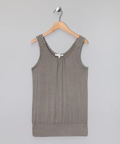 Take a look at this Gray Stud Tank by Tractr on #zulily today!
