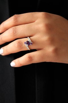 SALESALE20% OFFNatural Amethyst Silver Ring/ 925 by SusVintage