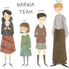 Narnia  . . #narnia #narniamovie #susan #lucy #edmund #peter #draw #drawing #illustration #character