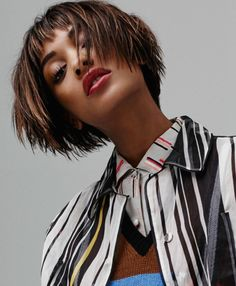 awesome Jourdan Dunn suits up for Elle UK April 2016 cover story by Bjarne Jonasson [fashion]