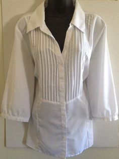 Essentials White Sheer Women's Plus Size Button Down Top Sz 18/20w #Essentials #ButtonDownShirt #Career
