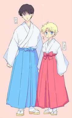 Genderbent Rei and Jadeite