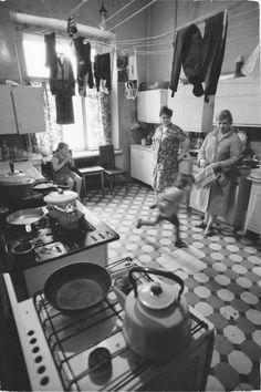 1970 körül. Társbérleti konyha