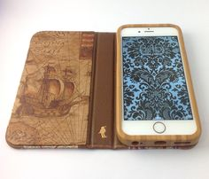 iPhone case for iPhone Eel skin, hand marbled paper, and map. Iphone Cases, Map, Location Map, Iphone Case, Maps, I Phone Cases