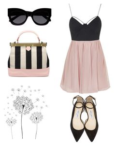 """""""Soft Grunge Spring"""" by kamileo ❤ liked on Polyvore featuring jcp, Topshop, Karen Walker and Jimmy Choo"""