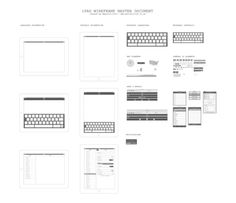 iPad Wireframe Set