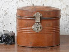 Vintage Hat Tin - industrial style by Scaramanga