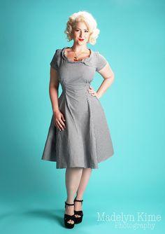 Beverly Dress in Black Gingham from Heartbreaker