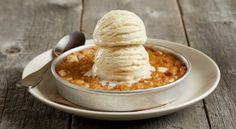 White Chocolate Macadamia Nut Pizookie® - This super moist, rich and delicious White Chocolate Macadamia Nut cookie is topped with vanilla bean ice cream and baked to order! White Chocolate Macadamia, White Chocolate Chips, Pizookie Recipe, Macadamia Nut Cookies, Vanilla Bean Ice Cream, Nut Recipes, Deep Dish, Sweets, Dishes