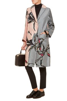 MarniPrinted cotton and silk-blend duster coatback