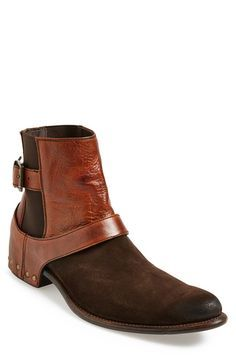 Have An Inquiring Mind Polished Boots Genuine Cow Leather Low Heel Ankle Boot Punk Combat Mens Western Cowboy Boot Vintage Shoes Motorcycle Rock Boots Modern And Elegant In Fashion Shoes