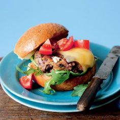 These spicy Mexican bean burgers are a vegetarian recipe with plenty of flavour.
