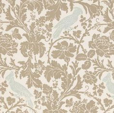 Premier Prints Barber Powder Blue Taupe Twill Home Decorating Fabric BTY