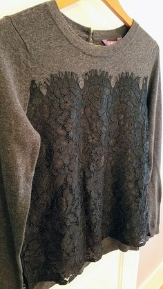 Fabulous!!! Would love to see this in a fix! Love the lace on this pullover. Truly Poppy Glorya Lace Overlay Pullover