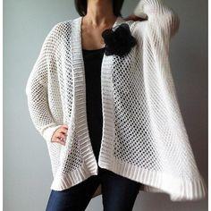 Angela - easy trendy cardigan (crochet) Crochet pattern by Vicky Chan Designs | Knitting Patterns | LoveKnitting