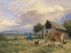"""Queen of the Barnyard"" by Robert Duncan #Fauna #Art For more great pins go to @KaseyBelleFox"