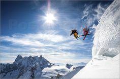 Tristan Shu - Skifahrer im Sprung