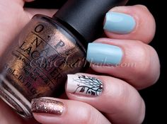 ChitChatNails » Blog Archive » Feeling Fozzie. China Glaze KINETIC CANDY. Stamping nail art.