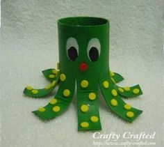 Tutorial:  Toilet Paper Tube Octopus