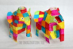 Milk Jug Elmer Elephant Craft