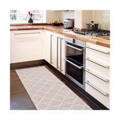 Vysoce odolný kuchyňský koberec Webtapetti Lattice Sand, 60x220 cm