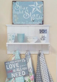 Pretty blue and white display