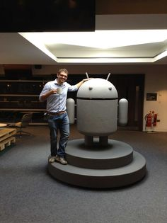 Me and Android. I'm the one with the cup. :D