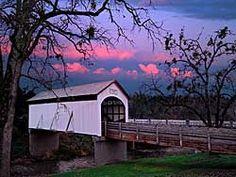 Oregon Covered Bridges - Antelope Creek Covered Bridge in Eagle Point by Medford