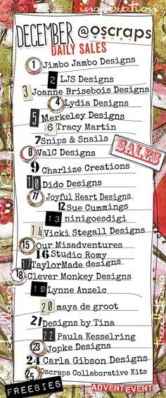 Advent 2014 - Sales Schedule - Forum :: Oscraps.com